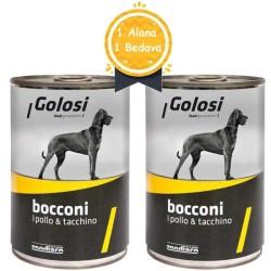 Golosi - Golosi Tavuk ve Hindili Köpek Konservesi 400 GR + 400 GR