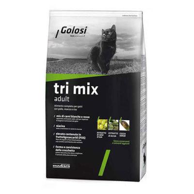 Golosi Tri Mix Tavuklu ve Biftekli Kedi Maması 1.5 KG