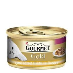 Gourmet - Gourmet Gold Hindili Ördekli Kedi Konservesi 85GR