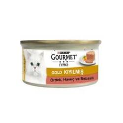 Gourmet - Gourmet Gold Kıyılmış Ördek,Havuç ve Ispanaklı Kedi Konservesi 85 GR