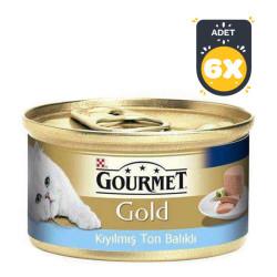 Gourmet - Gourmet Gold Kıyılmış Ton Balıklı Kedi Konserve 85 GR x 6 Adet