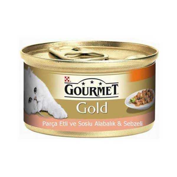 Gourmet Gold Parça Etli Alabalık Sebze Kedi Konservesi 85 GR * 24 Adet