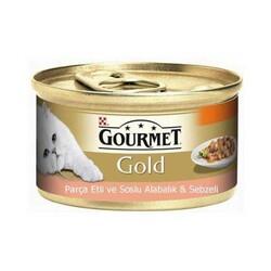 Gourmet Gold Parça Etli Alabalık Sebze Kedi Konservesi 85 GR * 24 Adet - Thumbnail
