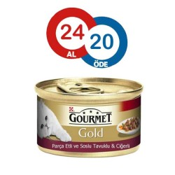 Gourmet - Gourmet Gold Tavuk ve Ciğerli Kedi Konservesi* 24 ADET