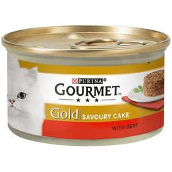 Gourmet - Gourmet Gold Savoury Cake Sığır Etli Kedi Konservesi 85 Gr