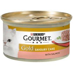 Gourmet - Gourmet Gold Savoury Cake Somon Balıklı Kedi Konservesi 85 Gr
