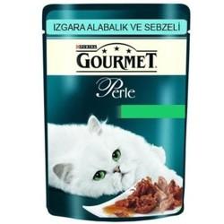 Gourmet - Gourmet Perle Izgara Alabalık-Sebzeli Kedi Konserve 85GR