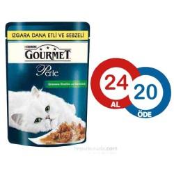 Gourmet - Gourmet Perle Izgara Dana Eti-Sebzeli Kedi Konserve 85GR * 24 Adet