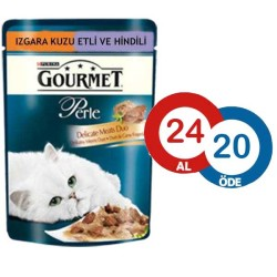 Gourmet - Gourmet Perle Hindili Kuzulu Kedi Konservesi 85 GR*24 ADET