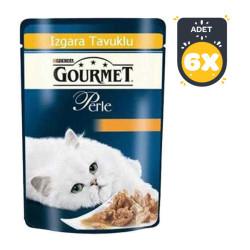 Gourmet - Gourmet Perle Izgara Tavuklu Kedi Konserve 85GR x 6 Adet