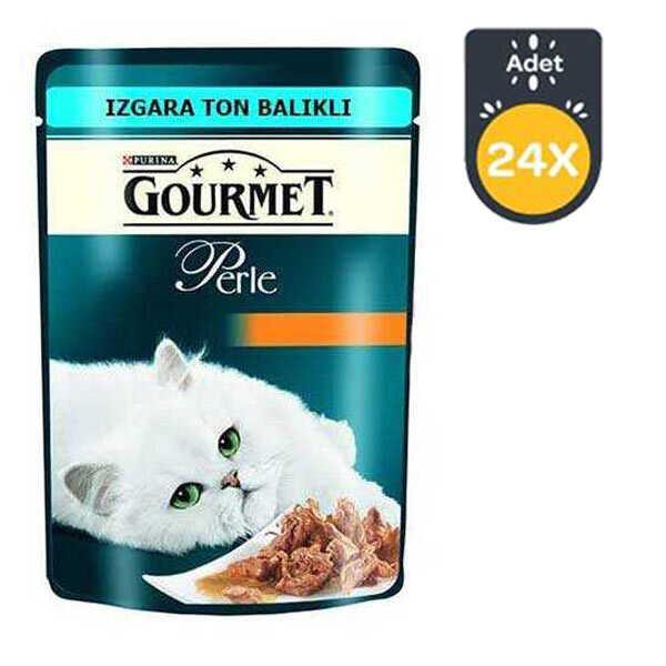 Gourmet Perle Izgara Ton Balıklı Kedi Konserve 85 GR * 24 Adet