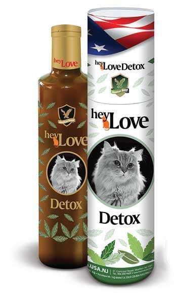 Heylove Detox Kedi Besin Takviyesi 480 ML