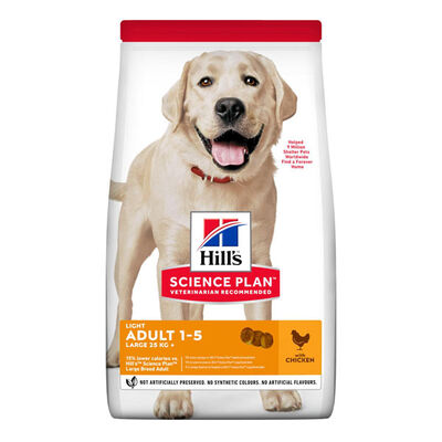 Hills Light Büyük Irk Tavuklu Köpek Maması 14 KG
