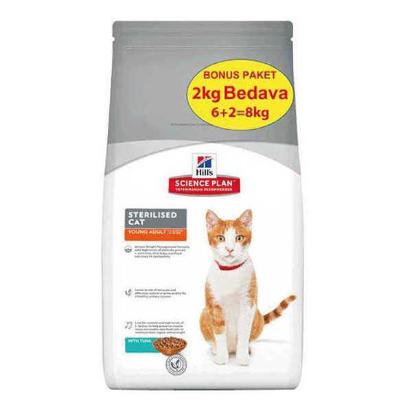 Hills Tuna Balıklı Kısırlaştırılmış Kedi Maması 6+2 KG HEDİYELİ
