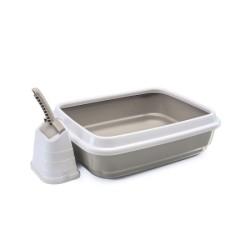 İmac - İmac Duo Beyaz Kahverengi Kedi Tuvaleti