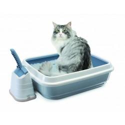 İmac - İmac Duo Beyaz Mavi Kedi Tuvaleti
