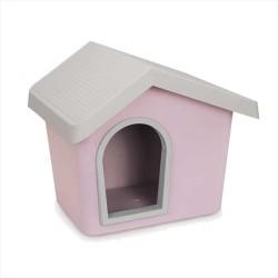İmac - İmac Zeus Sert Plastik Köpek Kulübesi 50 - Pembe + İmac Minder HEDİYELİ