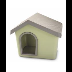 İmac - İmac Zeus Sert Plastik Köpek Kulübesi 50 - Yeşil + İmac Minder HEDİYELİ