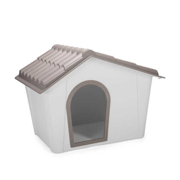 İmac Zeus Sert Plastik Köpek Kulübesi 90 - GRİ