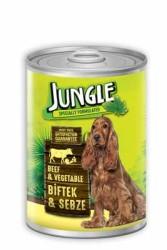 Jungle - Jungle Biftek Sebezeli Köpek Konservesi 415 GR
