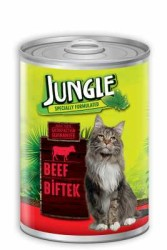 Jungle - Jungle Biftekli Kedi Konservesi 415 GR