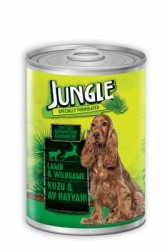 Jungle - Jungle Kuzu Etli Av Hayvanlı Köpek Konservesi 415 GR