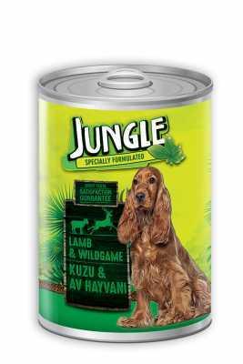 Jungle Kuzu Etli Av Hayvanlı Köpek Konservesi 1230 GR