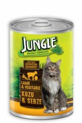 Jungle - Jungle Kuzu Etli Sebzeli Kedi Konservesi 415 GR