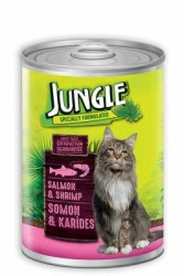 Jungle - Jungle Somonlu Karidesli Kedi Konservesi 415 GR