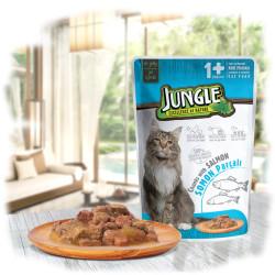 Jungle - Jungle Somonlu Kedi Yaş Mama 100 GR 22 Adet