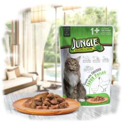 Jungle - Jungle Tavuklu Kedi Yaş Mama 100 GR 22 Adet