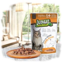 Jungle - Jungle Tavuklu Kısır Kedi Yaş Mama 100 GR 22 Adet