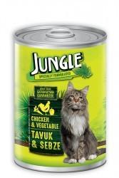 Jungle - Jungle Tavuklu Sebzeli Kedi Konservesi 415 GR