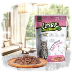 Jungle - Jungle Tavuklu Yavru Kedi Yaş Mama 100 GR 22 Adet