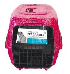 Pet Carrier - Kedi Köpek Taşıma Çantası Gül Desenli 58*40*26,5 Max 11 KG