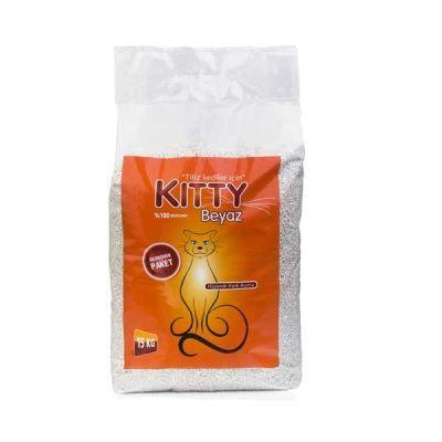 Kitty Pudra Kokulu Beyaz İnce Taneli Kedi Kumu 15 LT