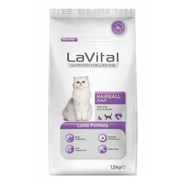 La Vital Hairball Kuzu Etli Kedi Maması 1.5 KG