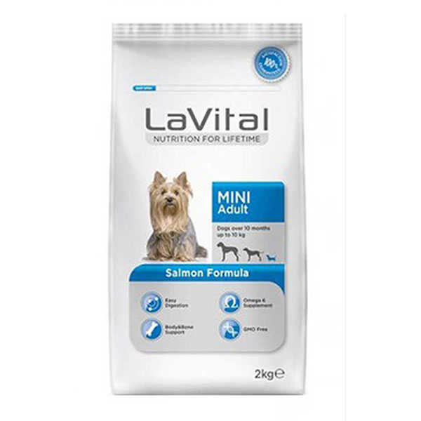 La Vital Küçük Irk Somonlu Yetişkin Köpek Maması 2 Kg + 2 Kg