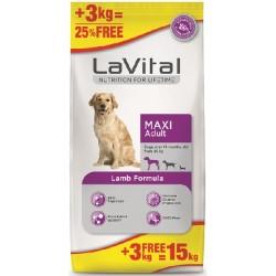 La Vital - La Vital Kuzu Etli Büyük Irk Köpek Maması 12 KG + 3 KG