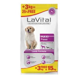 La Vital - La Vital Kuzu Etli Büyük Irk Yavru Köpek Maması 12 + 3 KG