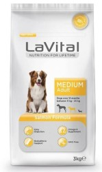 La Vital - La Vital Orta Irk Somon Balikli Yetişkin Köpek Mamasi 3 KG