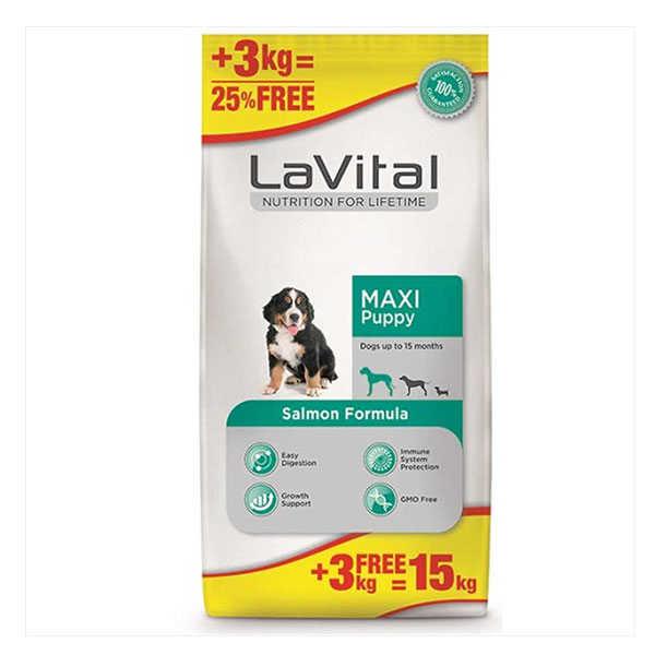 La Vital Somonlu Büyük Irk Yavru Köpek Maması 12 + 3 Kg