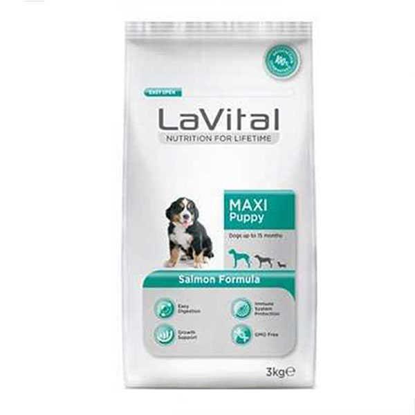 La Vital Somonlu Büyük Irk Yavru Köpek Maması 3 KG
