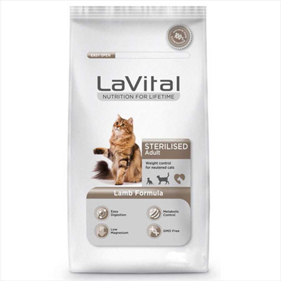 La Vital Steril Kuzu Etli Kısırlaştırılmış Kedi Maması 12 KG