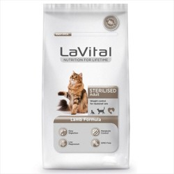 La Vital - La Vital Steril Kuzu Etli Kısırlaştırılmış Kedi Maması 12 KG