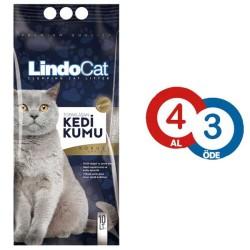 LindoCat - LindoCat Topaklanan Kokusuz Kedi Kumu 10 LT ( 4 AL 3 ÖDE )