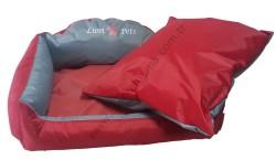 Lion - Lion Katlanabilir Yastıklı Yatak (Kırmızı-MEDİUM)