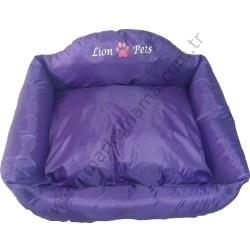 Lion - Lion Katlanabilir Yastıklı Yatak (Mor-Large)