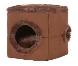 Lion - Lion Kutu Şeklinde Kedi Yatağı Kahverengi