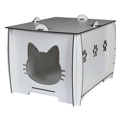 Markamama Beyaz Kedi Evi - Thumbnail